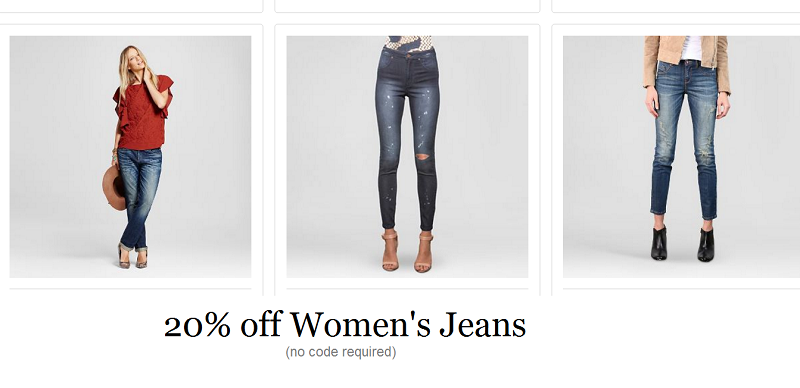 20% off Women's Jeans at Target